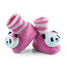 Csörgő zokni - pink panda