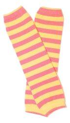 lábszármelegítő- rózsaszínsárga csíkos