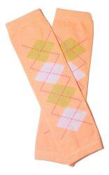 lábszármelegítő- káró mintás lazacszín