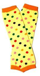 lábszármelegítő- sárga színes pöttyös