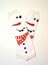 lábszármelegítő- nagy hóemberes karácsonyi