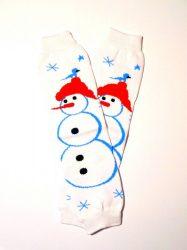 lábszármelegítő- kis hóemberes karácsonyi