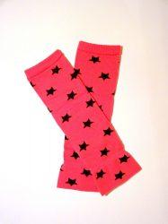 lábszármelegítő- pinkfekete csillagos