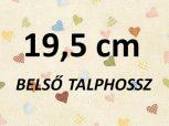 19,5cm = kb. EU 31-32-es méret