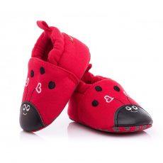 Babacipő- piros katica