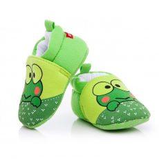 Babacipő- zöld béka