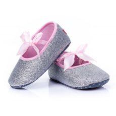 Babacipő- ezüst topánka