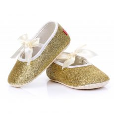 Babacipő- arany topánka