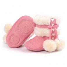 Csizma - pink bojtos