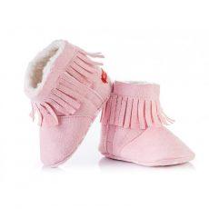 Csizma - rózsaszín rojtos
