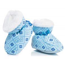 Csizma - pufi kék rombusz
