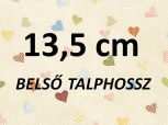 13,5 cm = kb. 21-22 EU méret