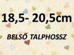 18,5-20,5 cm = kb. EU 30-34-es méret
