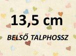 13,5 cm = kb. EU 21-22 méret