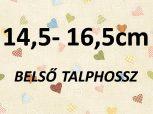 14,5-16,5 cm = kb. EU 24-26-os méret