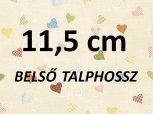11,5cm = kb. EU 19-es méret