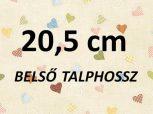 20,5cm = kb. EU 33-34-es méret
