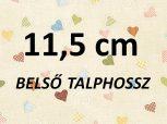 11,5 cm = kb. EU 19 méret
